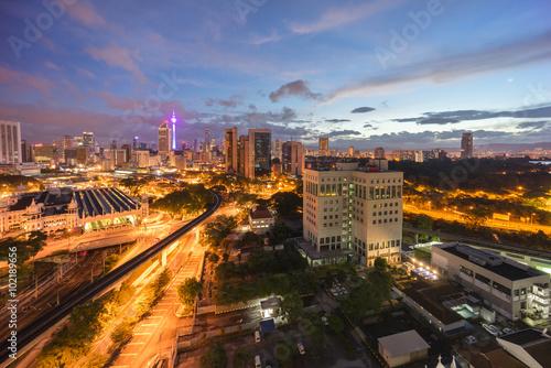 beautiful sunrise at Kuala Lumpur city centre Poster