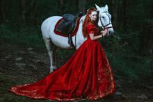 Woman Dressed In Medieval Dress