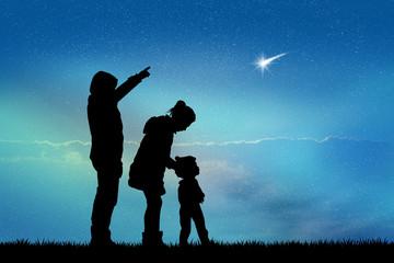 people look the shooting stars