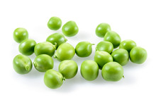 Green Peas Isolated On White B...