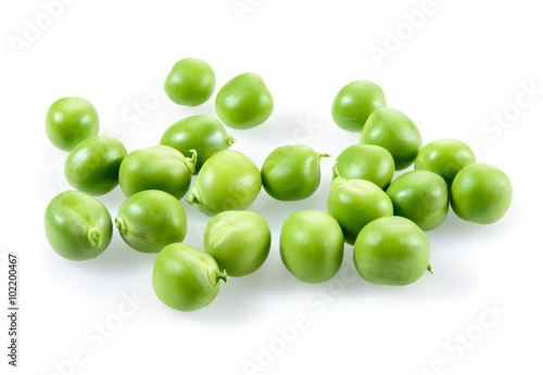 Fotografie, Tablou Green peas isolated on white background
