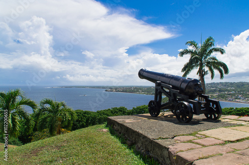 Fotobehang Vestingwerk Fort King George in Tobago