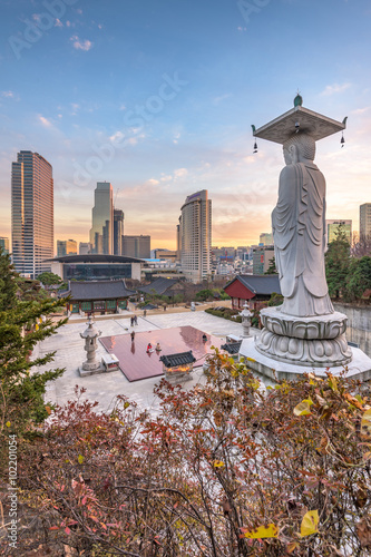 Photo sur Aluminium Seoul Bongeunsa temple in Seoul City, South Korea.