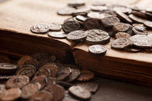 Pile Of Ancient Coins On The V...