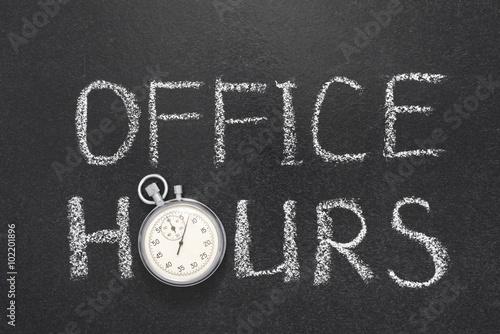 Obraz office hours gr - fototapety do salonu