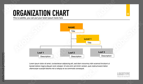 Organization Chart Template Buy This Stock Vector And