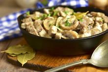 Beef Stroganoff With Mushrooms.