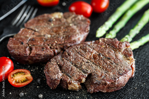 Fotografia, Obraz  Grilled beef steak
