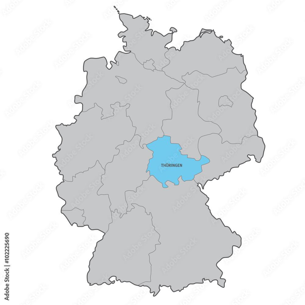 Gamesageddon Stock Deutschland Bundesland Thueringen Karte Vektor