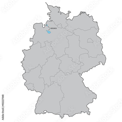 Bundesland Bremen Karte.Deutschland Bundesland Bremen Karte Vektor Buy This Stock Vector