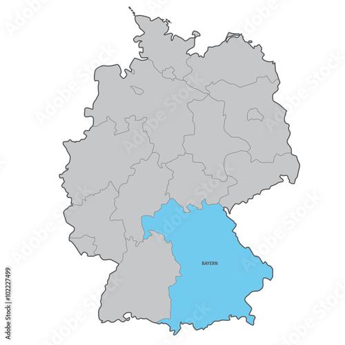 Deutschland Bundesland Bayern Karte Vektor Kaufen Sie Diese