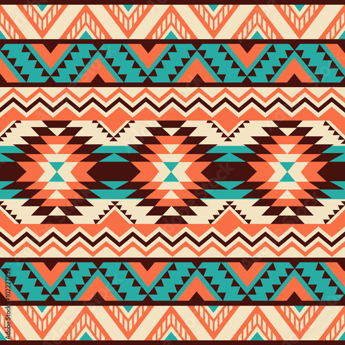 Obraz na plátně Ethnic ornament. Seamless Navajo pattern. Vector Illustration