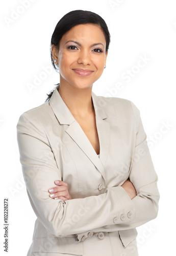 Photo  Beautiful asian business woman.