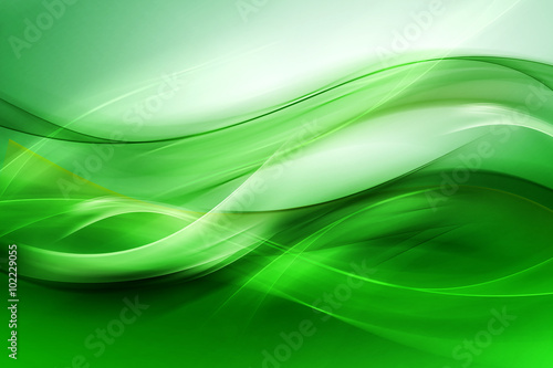 Fototapeta Abstract beautiful motion green background for design. Modern bright digital illustration. obraz