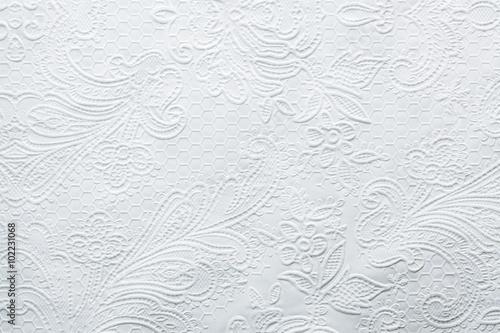 White embossed wedding style paper background Slika na platnu