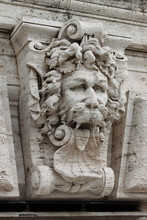 Satyr Mask Basrelief In Rome, ...