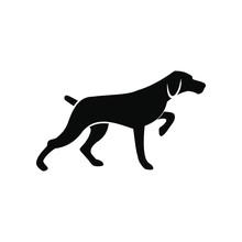 Hunting Dog Black Simple Icon