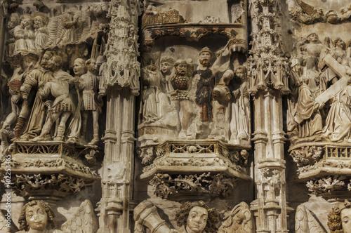 Fotografie, Obraz  Retablo de Alabastro de la Basílica de Santa María (Castelló d'Empúries, Gerona,