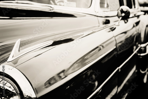 Classic car photographed from the side.