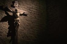 Dark Artistic Cross On A Shade...