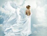 Kobiety Fantasy Latająca suknia, falująca sukienka dmuchająca na wiatr - 102261462