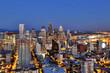 Seattle Aerial Skyline at Dusk