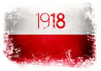 Flaga Polski - 1918