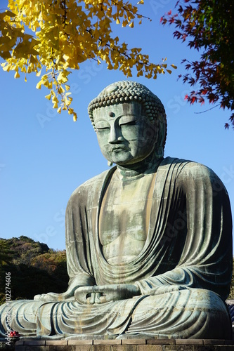 The Great Amida Buddha of Kamakura (Daibutsu) in the Kotoku-in Temple Plakat
