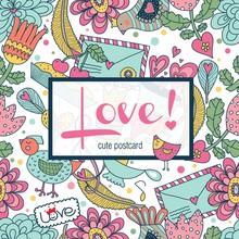Cute Postcard With Postcard.