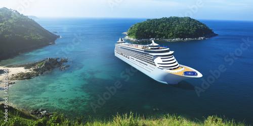 Fotografia  3d Cruise Ship Vacation Holiday Summer Illustration Concept