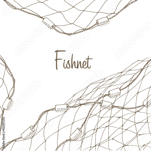 Fotografie, Tablou Fishing net background
