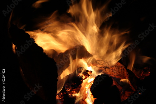 Poster Fire / Flame Lagerfeuer