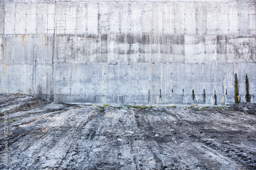 Tuinposter New York City Grey concrete wall