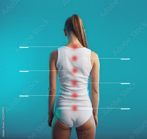 Fotografía  Spinal cord tagged