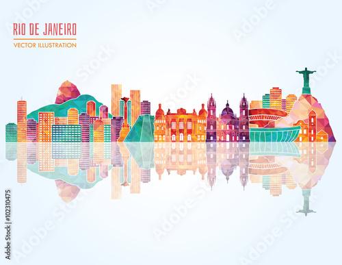 Photo  Rio De Janeiro skyline. Vector illustration