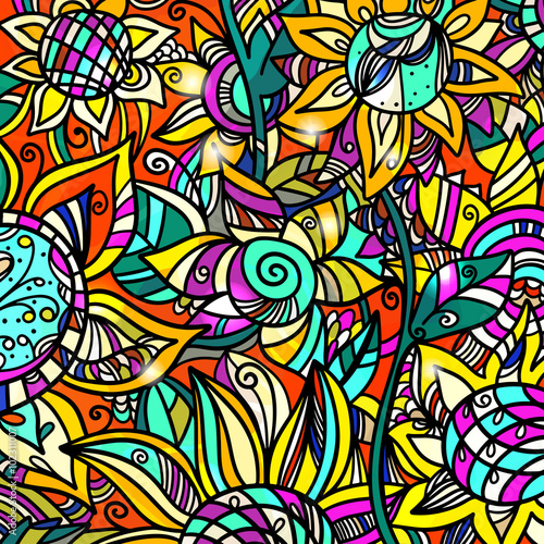 Naklejki witrażowe   kolorowy-streszczenie-kwiatowy-tlo
