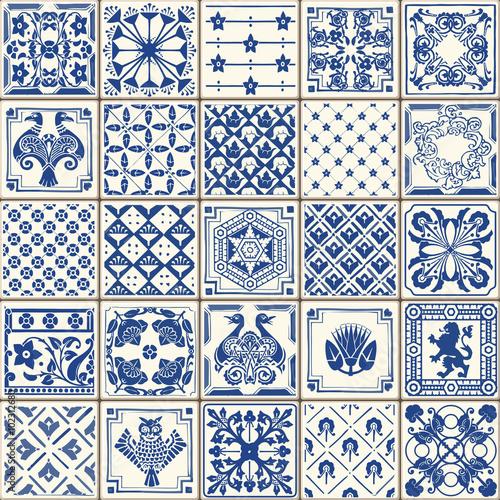 Fototapeta na wymiar Wektorowy wzór ornamentów podłogowych