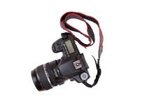 Professional DSLR Isolaed On White Background