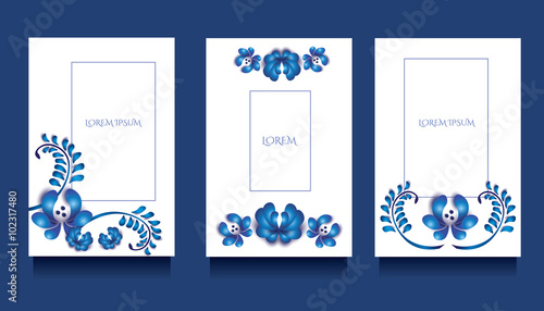 Decorative Templates For Invitations And Greeting Cards At Gzel Floral Unique Style
