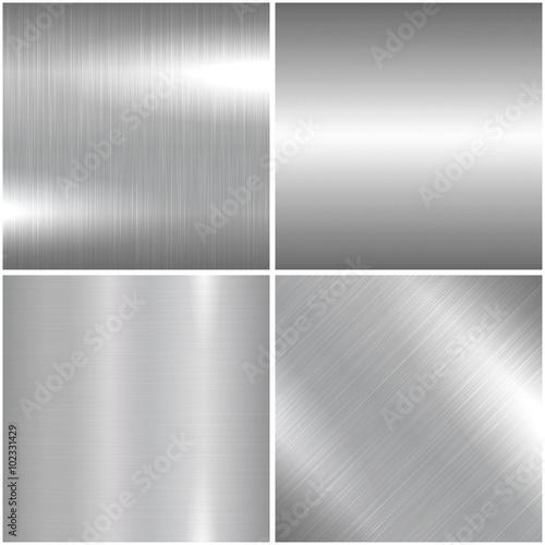 Photo  Metal brushed texture.