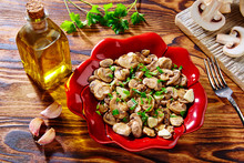 Tapas From Spain Champinones Garlic Mushrooms