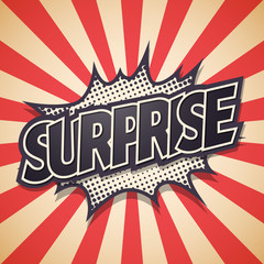 Surprise, Speech Bubble Vector illustration Background.