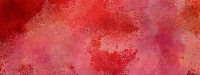 red background with vintage faded white watercolor wash texture, large red ba...