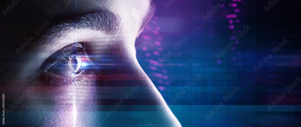 Fototapeta Eye in an high tech environment