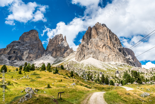 Fotografia, Obraz  Lift in the beautiful Mountains of Dolomites,  Italy