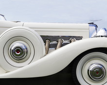 White Duesenberg Classic Antique Automobile
