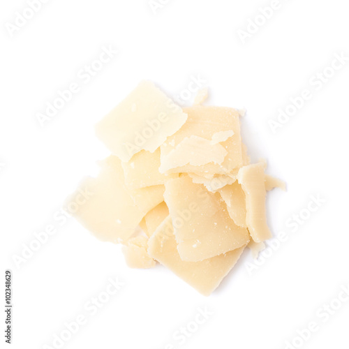 Fotografie, Obraz  Pile of parmesan cheese flakes