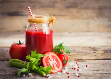 Tomato Juice In The Jar