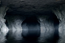 Underground River In A Dark St...