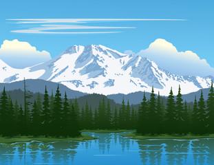 Panel Szklany Góry Mountain Beauty